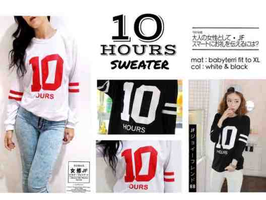 10 Hours Sweater - ecer@57rb - seri4pcs 208rb - bahan Babyterri - fit to XL