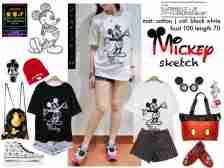 Mickey Sketch - ecer@41rb -seri4pcs 140rb - bahan Kaos - fit to XL