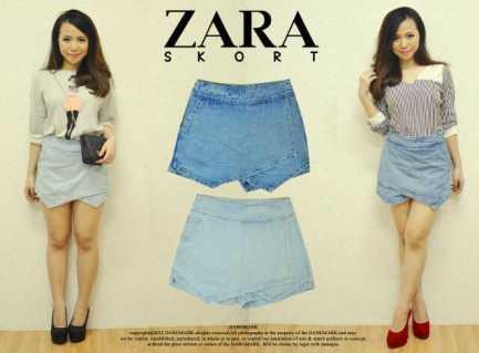 Zara Denim Skort - ecer@72rb - seri4pcs(M&L) 268rb - bahan jeans