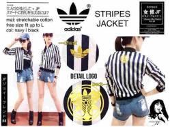 Adidas Stripes Jacket - seri4pcs 120rb - bahan Twiscone - fit to L - Foil Emas di dada & punggung