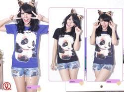 Baby Panda Tee - seri3pcs(navy2pcs, grey 1pc) 75rb - kaos - fit to L