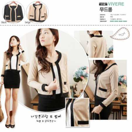 Bianca Blazer - ecer@61 - seri4pcs 220rb - bahan wedges tekstur - fit to L