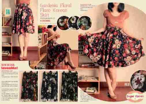 Gardenia Flare Skirt - ecer@45rb(green) - twistcone - fit to L