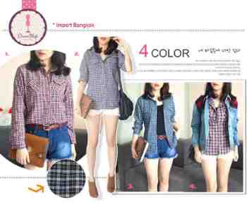 IMPORT - Small Tartan Flanel Shirt - ecer@93 - seri4w 348rb - cotton - fit to L