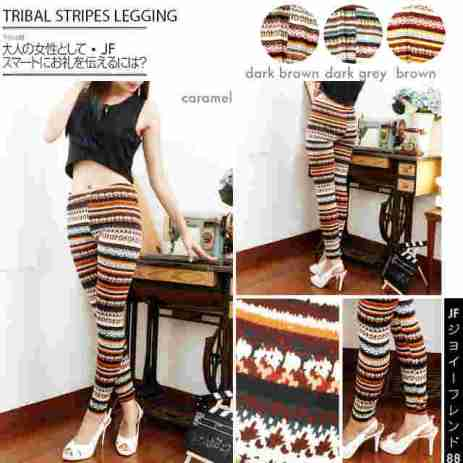 Tribal Stripe Legging - ecer@39rb - seri4w 132rb - bahan Spandex - fit to L