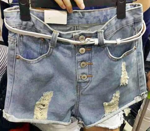 (IMPORT) Destroy Denim Hotpants - ecer@74 - seri4pcs(2uk) 276rb - jeans - uk M&L