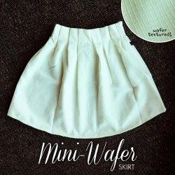IMPORT! Mini Wafer Skirt White - ecer@66rb - seri4pcs(2wrn) 240rb - katun tebal bertekstur - fit to L