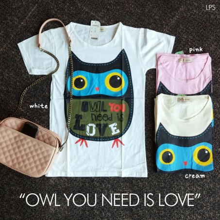Owl You Need Tee - ecer@41rb - seri3w 108rb - kaos - fit to L