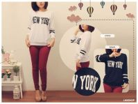 Small NY Baseball Sweater - ecer@50 - seri4pcs 180rb - bhn babyterry - fit to XL