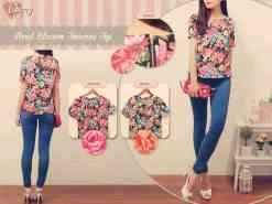Floral Blossom Top - ecer@54 - seri4pcs 196rb - twiscone import - fit to L