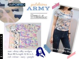 [IMPORT] Pastelicious Army Croptee - ecer@69rb - seri3w 192rb - bhn wedges - fit to L - brand 'I LOVE TOPPING'