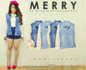 Merry Jacket - ecer@79rb - seri4w 296rb - jeans combi babyterry - fit to L