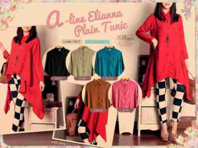 RESTOCK LAGI! Elliana A-line Tunic - ecer@67rb - seri6w 366rb - rayon - fit to XL