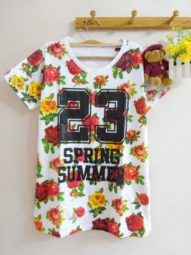 23 Spring Summer Tee (white) - ecer@46rb - seri4pcs(2warna) 168rb - kaos - fit to XL - depan belakang full motif bunga.JPG