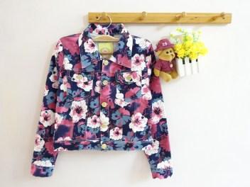[IMPORT] Vintage Flowery Jacket - ecer@95rb - seri4pcs 360rb - jeans tebal - fit to L