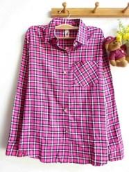 Mexico Tartan Shirt (pink) - ecer@83rb - seri4w 312rb - flanel - fit to L