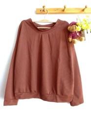 Mini Dotty Pullover(Choco) - ecer@57rb - seri3w 156rb - bahan Spandex Dotty (bahan unik & bagus) - fit to XL