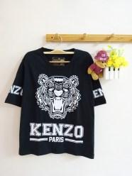 Oversized Kenzo Tee (black) - ecer@46rb - seri4pcs(2warna) 168rb - kaos - fit to XL - di lengan baju tulisan 'KENZO'