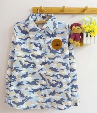 Pastel Army Shirt (blue) - ecer@75rb - seri3w 210rb - jeans stretch+aplikasi kulit - fit to L