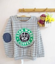Star Wars Pullover (grey) - ecer@69rb - seri4pcs(2warna) 260rb - babyterry+denim patch - fit to L
