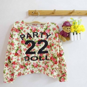 Summer Party Doll Crop Sweater (White) - ecer@61rb - seri2pcs 114rb - wedges - fit to L