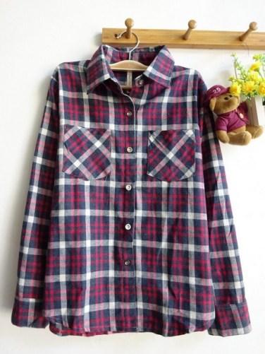 Tartan Flanel Shirt - ecer@83rb - flanel - fit to L