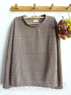 [IMPORT] Elegant Fur Sweater (choco) - ecer@85rb - seri4w 320rb -rajut benang kilau -fit L besar