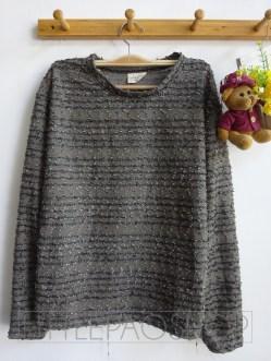 [IMPORT] Elegant Fur Sweater (grey) - ecer@85rb - seri4w 320rb -rajut benang kilau -fit L besar