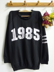 1985 Loose Sweater (black) - ecer@62rb - seri3w 174rb - babyterry - fit to L -