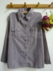 Cotton Candy Plaid Shirt (khaky) - ecer@65rb - seri4w 240rb -katun bangkok - fit to L
