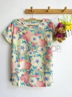 [IMPORT] Flower Rain Top (yellow) - ecer@58rb - seri3w 165rb - katun tebal - fit to L