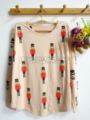 London Soldier Tee (cream) - ecer@57rb - seri4w 208rb - spandex - fit to L