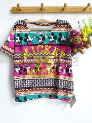 Tribal Mickey Top (pink) - ecer@52rb - seri4w 188rb - rajut halus - fit to L