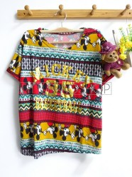 Tribal Mickey Top (red) - ecer@52rb - seri4w 188rb - rajut halus - fit to L