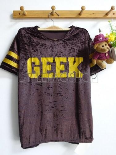Velvet GEEK Top (brown) - ecer@56rb - seri4w 204rb - bludru+glitter - fit to L