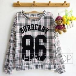 Burberry 86 Shirt. - ecer@62rb - seri4w 232rb - kaos+print beludru - fit to L