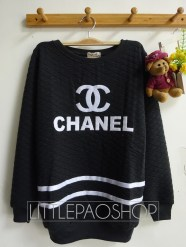 Chanel Pillow Sweater (black) - ecer@65rb - seri3w 180rb - wedges pillow - fit to XL