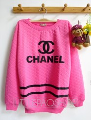 Chanel Pillow Sweater (pink) - ecer@65rb - seri3w 180rb - wedges pillow - fit to XL