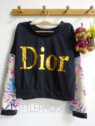 Crop Dior Pullover (cream) - ecer@68rb - seri4w 256rb - babyterry + wedges - fit to L