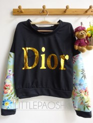 Crop Dior Pullover (tosca) - ecer@68rb - seri4w 256rb - babyterry + wedges - fit to L