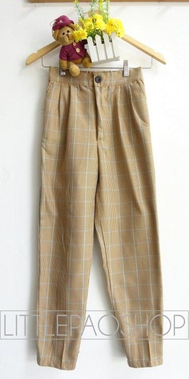 Grandpa Joe Baggy Pants (motif A) - ecer@78rb - seri3w 219rb - woolen import (tebal) - fit to uk 29