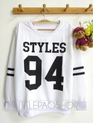 STYLES 94 Baseball Sweater (white) - ecer@55rb - seri4pcs(2black 2white) 200rb - babyterry - fit to L