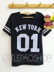 01 NEWYORK Baseball Top (black) - ecer@68rb - seri4w 2525rb - wedges prada - fit to L