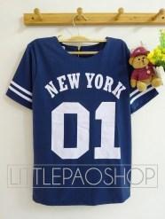01 NEWYORK Baseball Top (navy) - ecer@68rb - seri4w 2525rb - wedges prada - fit to L