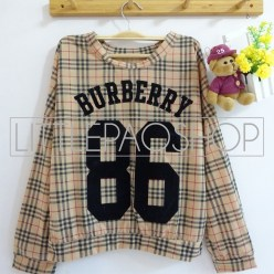 Burberry 86 Shirt (milo) - ecer@62rb - kaos+print beludru - fit to L