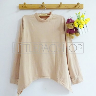 High Neck Layer Top (cream) - ecer@50rb - seri2w 90rb - spandex - fit to L