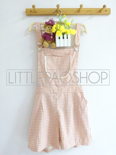 IMPORT - Kimiko Dungaree (pink) - ecer@115rb - seri3motif 330rb - katun tebal - fit to L