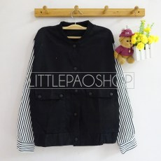 IMPORT - Plus Button Jacket(black) - ecer@92rb - seri4pcs(2white2black) 348rb - jeans tebal - fit to L