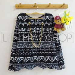 IMPORT - Tribal LOVE Necklace Sweater (black) - ecer@70rb - seri4pcs(2black2white) 260rb - wedges tekstur - fit to L