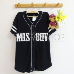 MISBHV Baseball Shirt (black) - ecer@60rb - seri4w 220rb - spandex rayon - fit to L